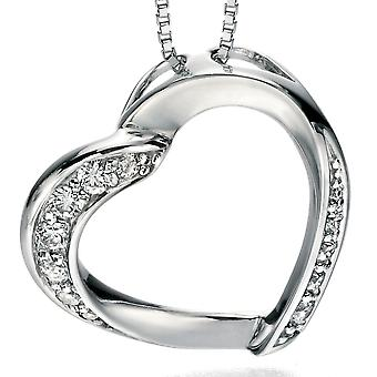 925 Silver zirconia Heart Necklace Fashionable