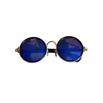 Cool urban style sunglasses with round glass blue