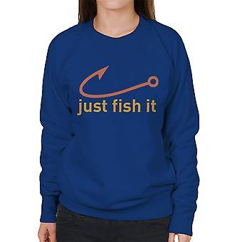 Nur Fische es Nike Logo gelb Damen Sweatshirt