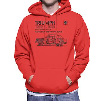 Haynes Workshop Manual 0086 Triumph 1300 1500 Black mannen Hooded Sweatshirt