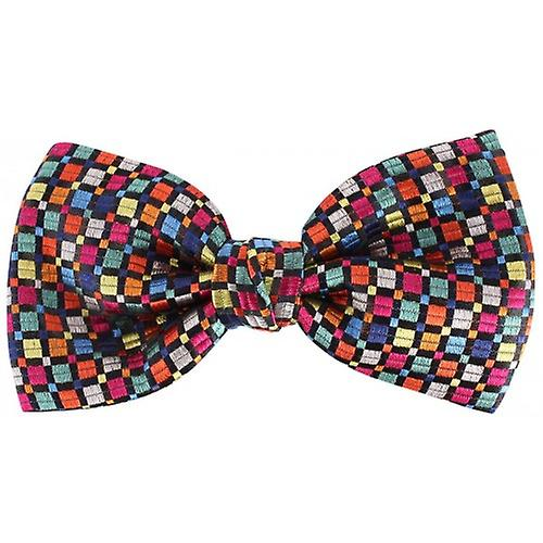 Knightsbridge Neckwear Squares Silk Bow Tie - Multi-colour