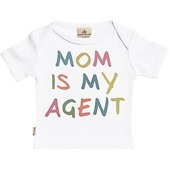 Spoilt Rotten Mom Is My Agent Short Sleeve Baby T-Shirt
