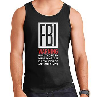 FBI Funny Quote White Men's Vest