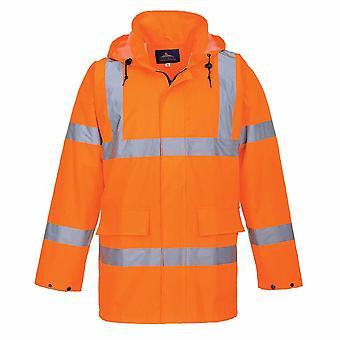 Portwest - Reflective Hi-Vis 150D Mesh-Lined Zip Front Lite Traffic Jacket