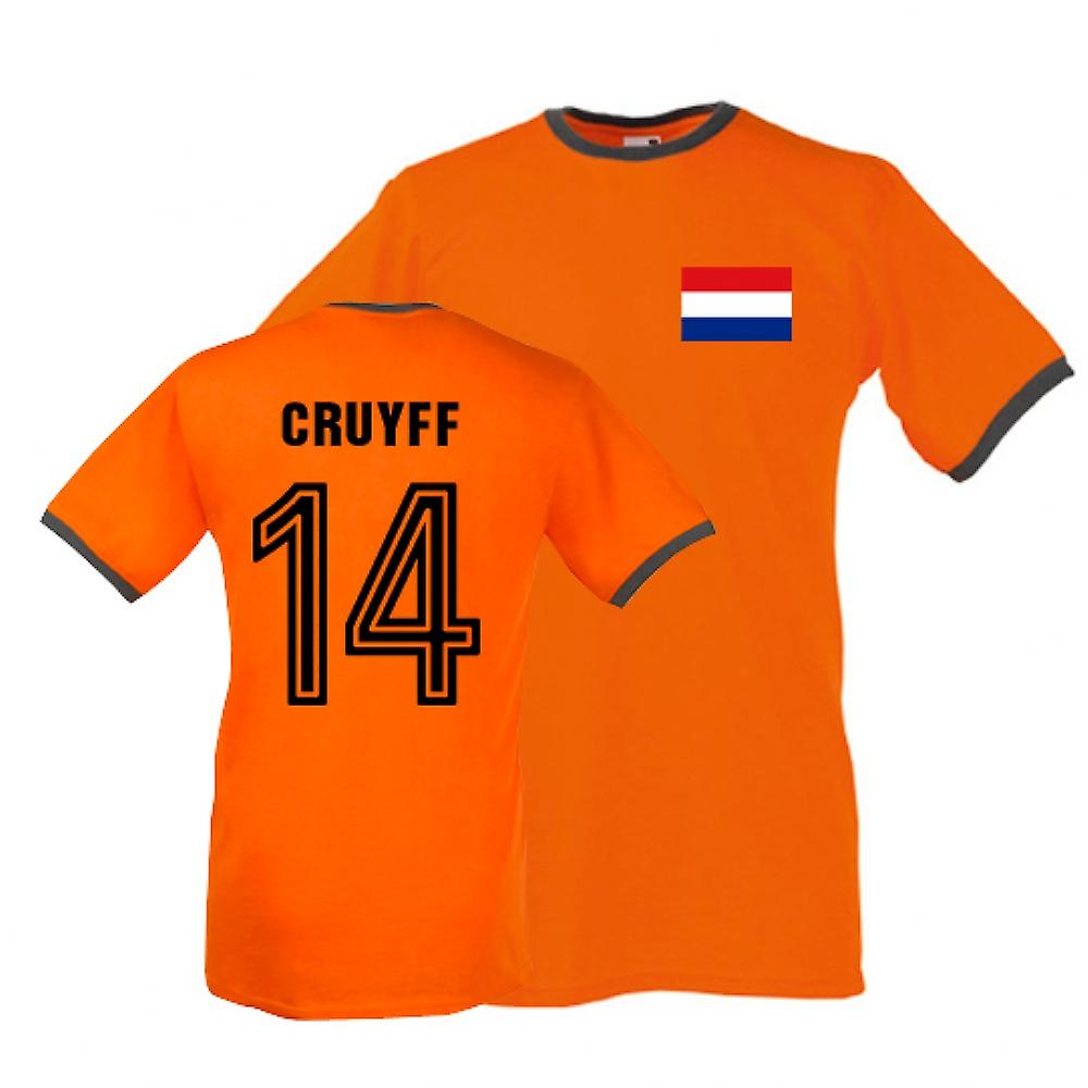 Johan Cruyff Hollande Ringer Tee (orange)