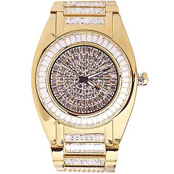 High quality ICED OUT CZ watch - ROBUSTO gold