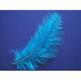 24 Turquoise Marabou Craft Feathers | Scrapbooking Card Making Embellishments