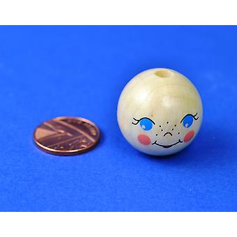 25mm Wooden Doll Face for Crafts | Wooden Shapes for Crafts