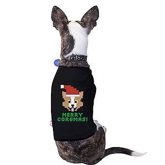 ميلاد سعيد كورجماس فصيل كورجي الحيوانات الأليفة قميص القطن الأسود مالك الكلب هدية عيد الميلاد