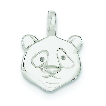 Sterling Silver Solid Polished Textured back Panda Charm - 1.4 Grams