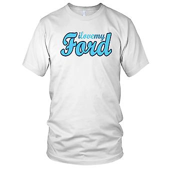 J'aime mon Ford voiture Mens T Shirt