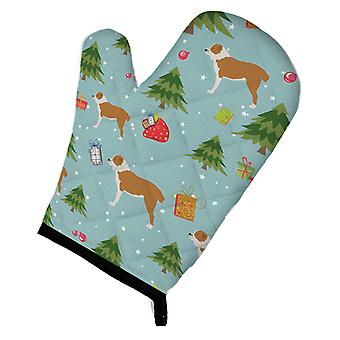 Carolines Treasures  BB4852OVMT Christmas Central Asian Shepherd Dog Oven Mitt