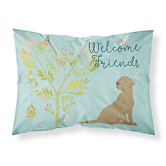 Bienvenue amis chocolat Labrador Retriever tissu taie d'oreiller Standard