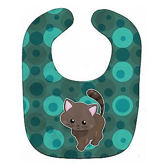 Carolines Treasures  BB6885BIB Polkadot Kitten Cat Baby Bib