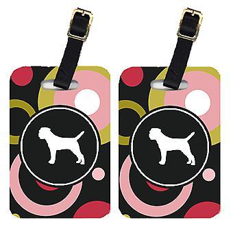 Carolines Treasures  KJ1015BT Pair of 2 Border Terrier Luggage Tags