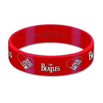 The Beatles Wristband red Love me do Band Logo new Official Rubber