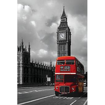 Londra - Bus rosso Poster Poster Print