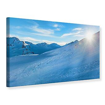 Canvas Print Photo Wallaper Sunrise In The Mountains
