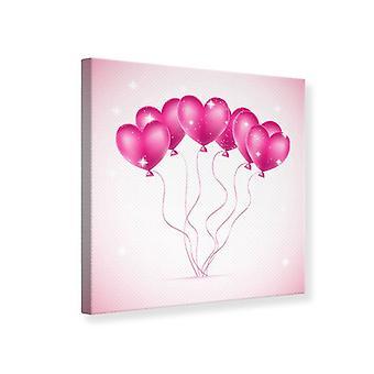 Canvas Print hart ballonnen