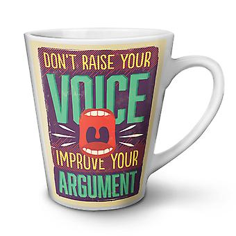 Improve Argument NEW White Tea Coffee Ceramic Latte Mug 17 oz | Wellcoda