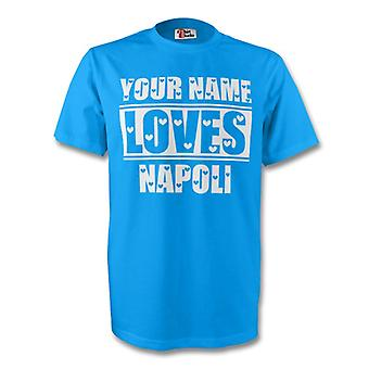 Your Name Loves Napoli T-shirt (sky) - Kids