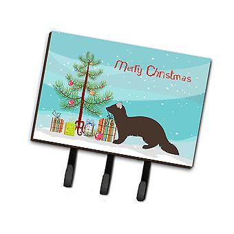 Carolines Treasures  BB9236TH68 Sable Marten Christmas Leash or Key Holder