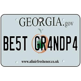 Georgia - Best Uncle License Plate Car Air Freshener