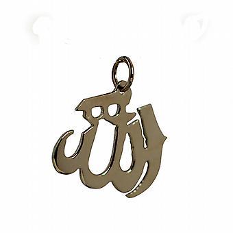 9ct Gold 17x22mm Allah written in Arabic script Pendant or Charm