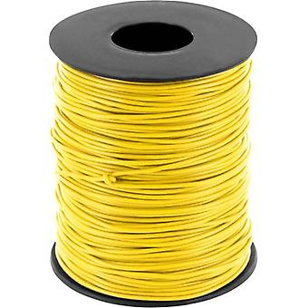 Jumper wire 1 x 0.20 mm² Yellow BELI-BECO D 105/1