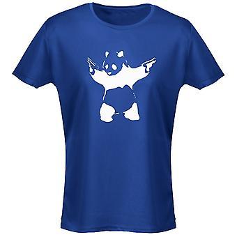 Banksy Panda armas mujeres camiseta 8 colores (8-20) por swagwear