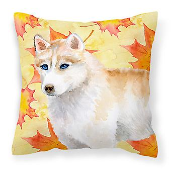 Carolines Treasures  BB9916PW1818 Siberian Husky Fall Fabric Decorative Pillow
