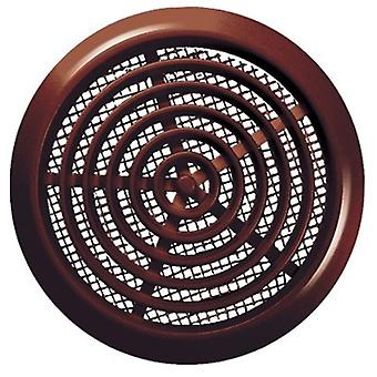 White/Brown 80mm Diameter Round Door Hole Air Vent Grille Woodwork Furniture