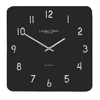 Modern Square Black Glass Wall Clock