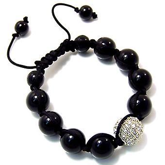 Unisex bling bracelet - DISCO BALL ONE silver