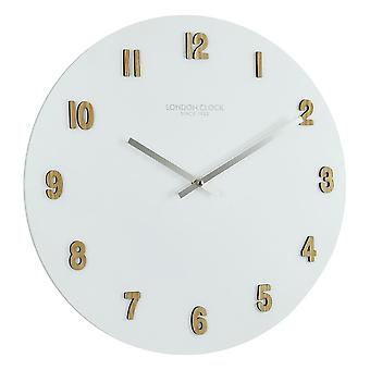 50cm Oslo Varme White Resin Wall Clock