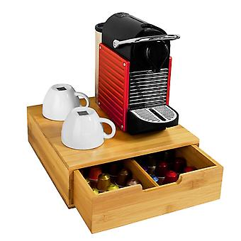 SoBuy Bamboo Coffee Pods & Capsules Organizer Holder,FRG70-N