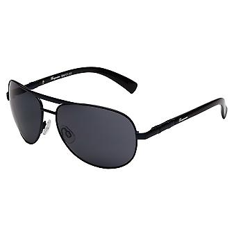 Classic sunglasses for men by Burgmeister with 100% UV protection | sturdy metal frame, high quality sunglasses case, microfiber glasses pouch and 2 year warranty | SBM131-101 Colombo