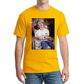 Napoleon Dynamite Time Machine Men's Gold Funny T-shirt