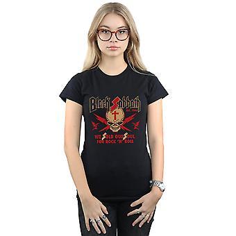 Black Sabbath vrouw schedel Crest T-Shirt