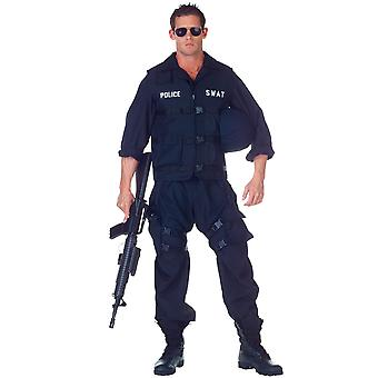 SWAT S.W.A.T. Deluxe Military Police Cop Commander Uniform Men Costume One Size