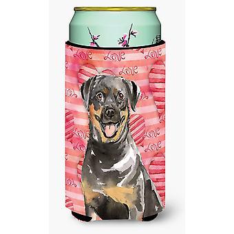 Love a Rottweiler Tall Boy Beverage Insulator Hugger
