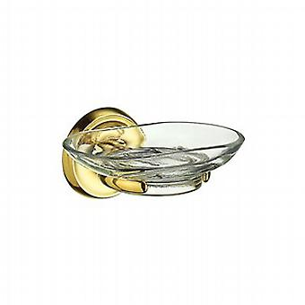 Villa Brass Holder With Glass Soap Dish V242