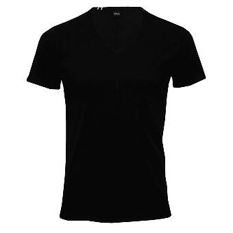 Replay Pure Cotton V-Neck T-Shirt, Black
