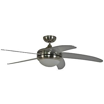 Ceiling fan Makkura Pepeo Chrome - silver blades without control device