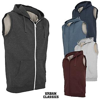 Urban classics melange sleeveless Ziphoody