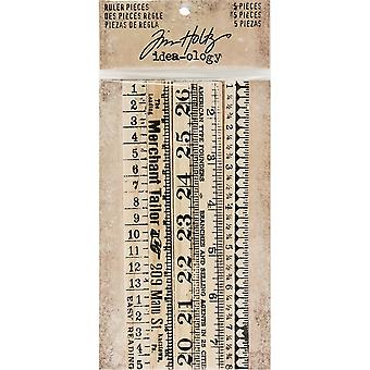 Idea-Ology Wooden Ruler Pieces 5/Pkg-.5