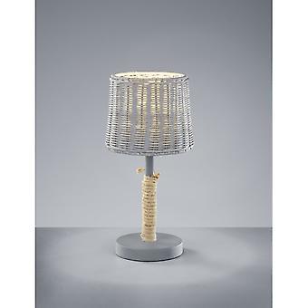 Trio Lighting Rotin Authentic Grey Metal Table Lamp