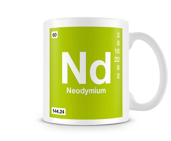 Element Symbol 060 Nd - Neodymium Printed Mug