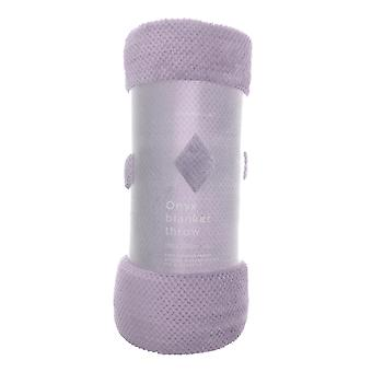 Country Club Onyx couverture jeter, lilas