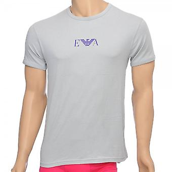 Emporio Armani Fashion coton Stretch Crew Neck T-Shirt, Ice Grey, Medium